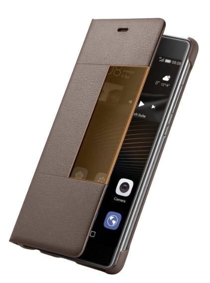 Custodia Huawei P9 View Flip Cover Brown