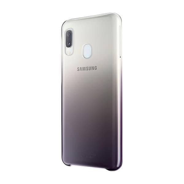 Samsung Galaxy A20e Gradation Cover Black lato