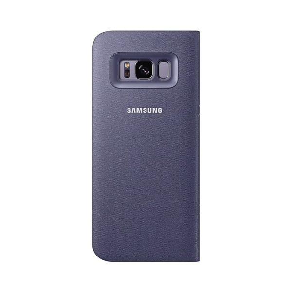 Led View Cover Violet Samsung Galaxy S8 custodia retro