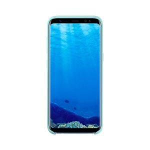 Silicone Cover Blue Samsung Galaxy S8 custodia