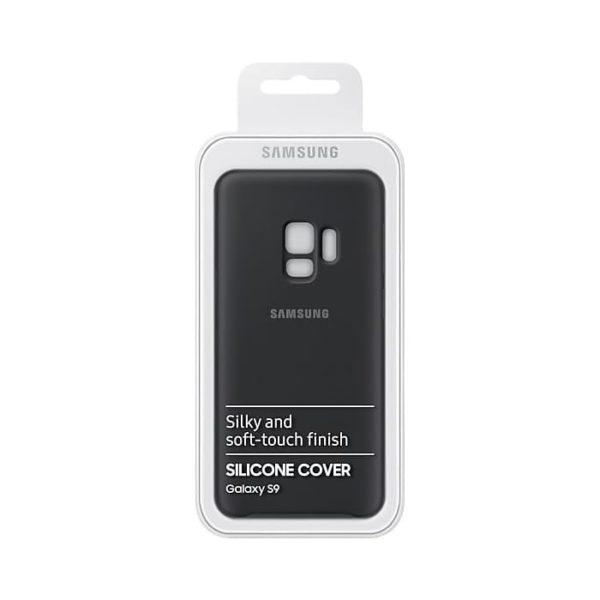 Silicone Cover Gray Samsung Galaxy S9 confezione