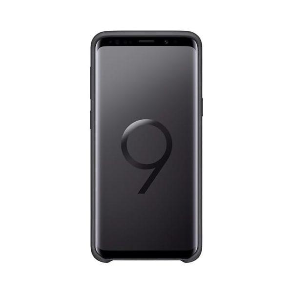 Silicone Cover Gray Samsung Galaxy S9 fronte