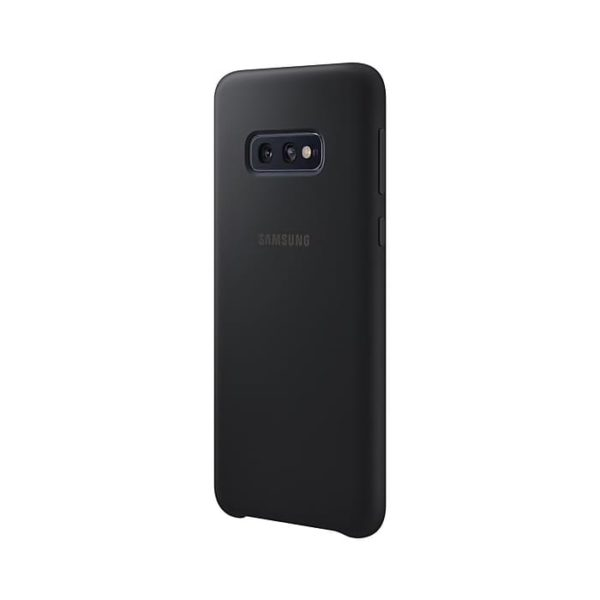 Samsung Galaxy S10e Silicone Cover Black retro