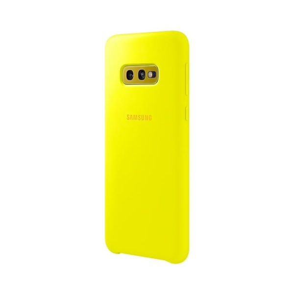 Samsung Galaxy S10e Silicone Cover Yellow retro
