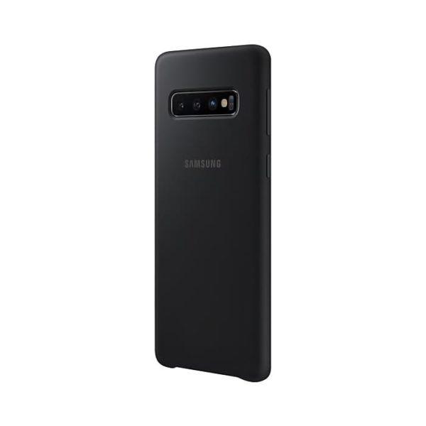 Samsung Galaxy S10 Silicone Cover Black Confezione lato