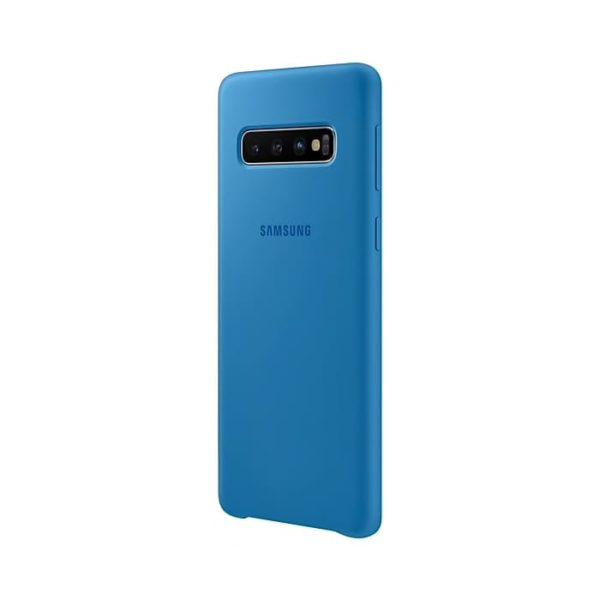 Samsung Galaxy S10 Silicone Cover Blue Lato