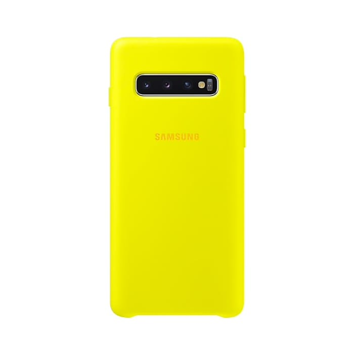 Samsung Galaxy S10 Silicone Cover Yellow