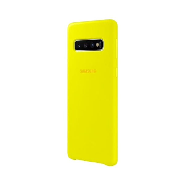 Samsung Galaxy S10 Silicone Cover Yellow lato