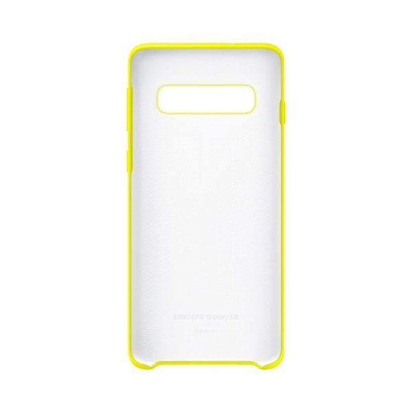 Samsung Galaxy S10 Silicone Cover Yellow custodia