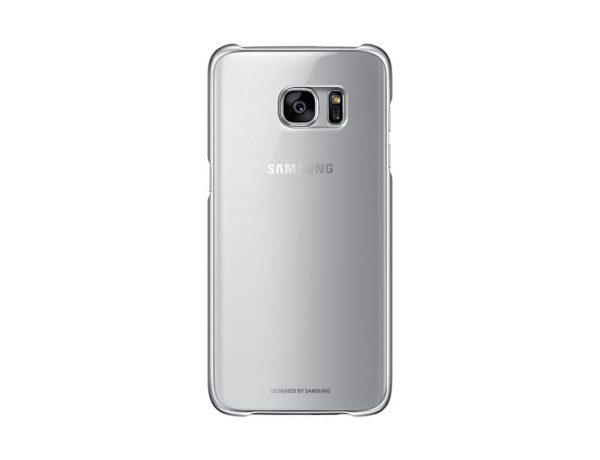 Samsung Galaxy S7 Edge Clear Cover Silver retro