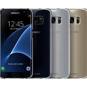 Samsung Galaxy S7 Edge Clear Cover Silver EF-QG935CSEGWW