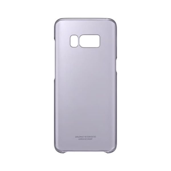 Samsung Galaxy S8 Clear Cover Transparent Violet retro