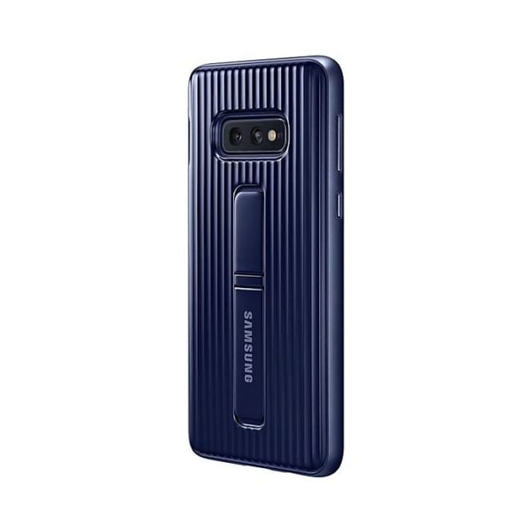 Samsung Galaxy S10e Protective Standing Cover Blue retro