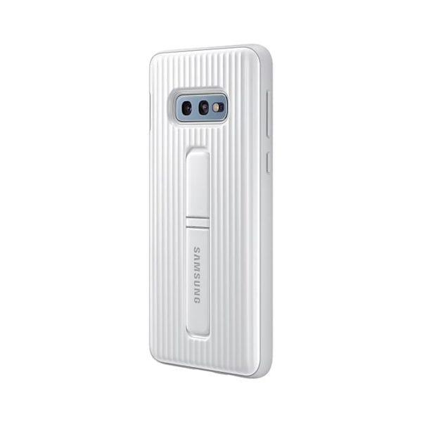 Samsung Galaxy S10e Protective Standing Cover White retro