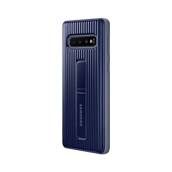 Samsung Galaxy S10 Protective Standing Cover Black retro