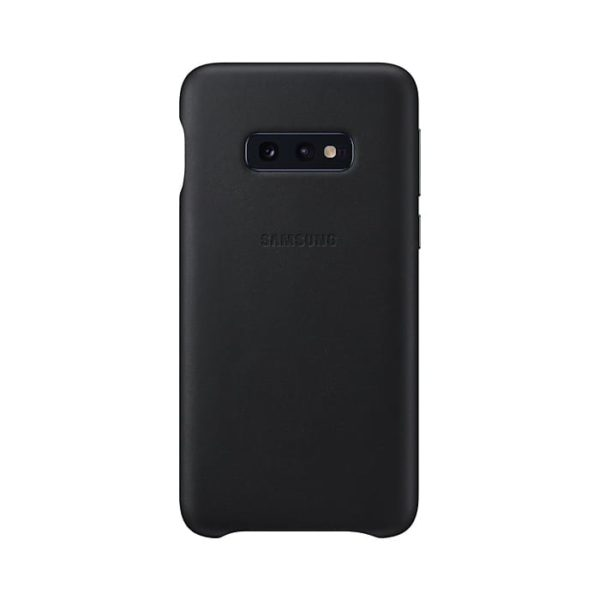 Samsung Galaxy S10e Leather Cover Black