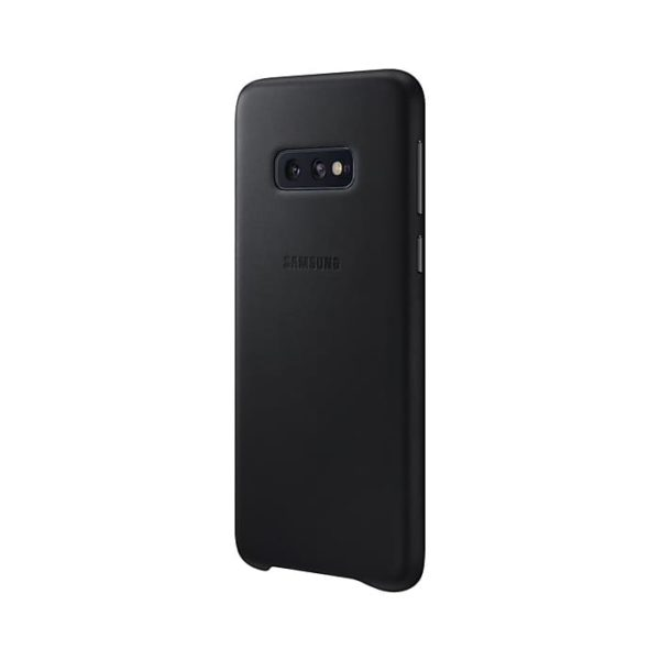 Samsung Galaxy S10e Leather Cover Black lato