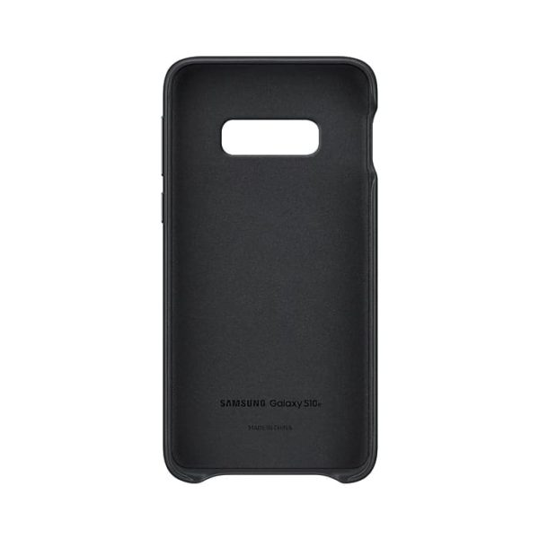 Samsung Galaxy S10e Leather Cover Black custodia