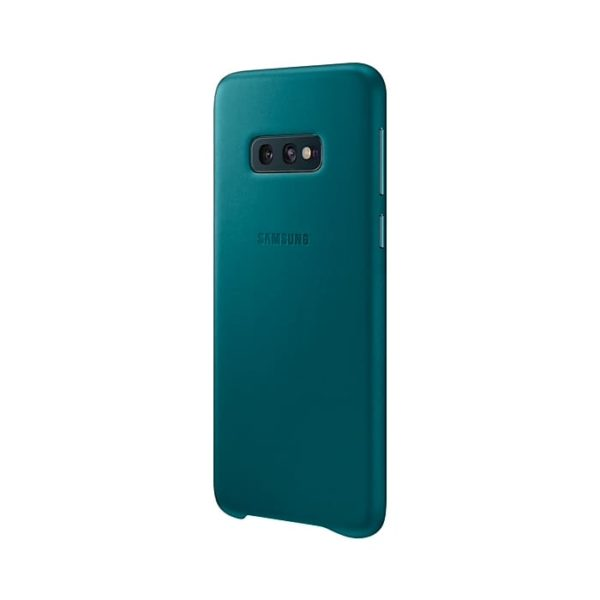 Samsung Galaxy S10e Leather Cover Green lato