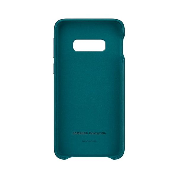 Samsung Galaxy S10e Leather Cover Green custodia