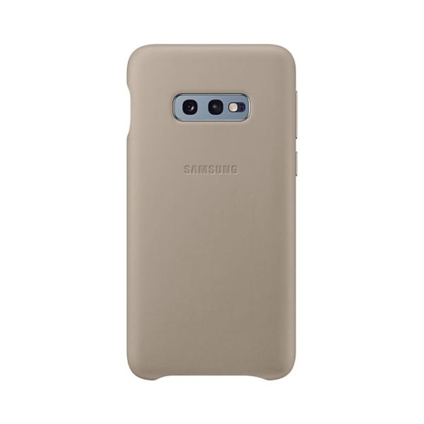 Samsung Galaxy S10e Leather Cover Gray