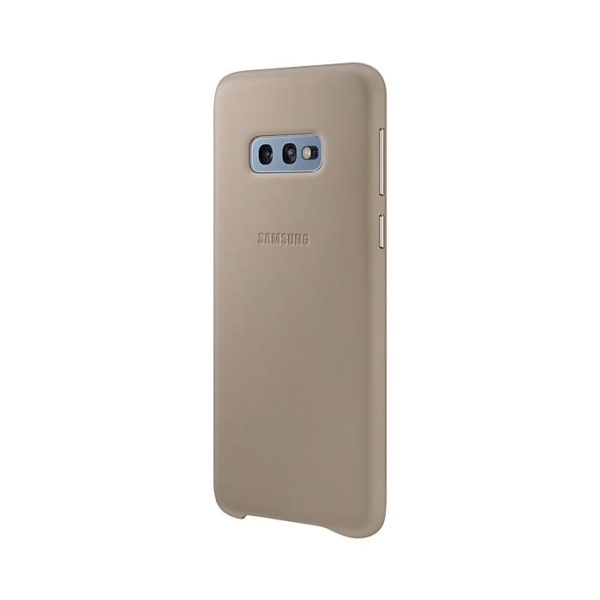 Samsung Galaxy S10e Leather Cover Gray lato