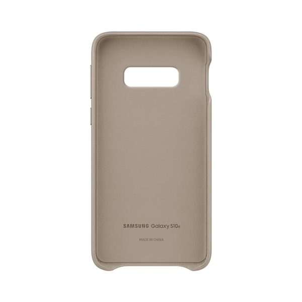 Samsung Galaxy S10e Leather Cover Gray custodia