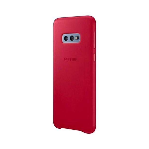 Samsung Galaxy S10e Leather Cover Red lato