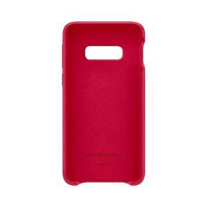 Samsung Galaxy S10e Leather Cover Red custodia