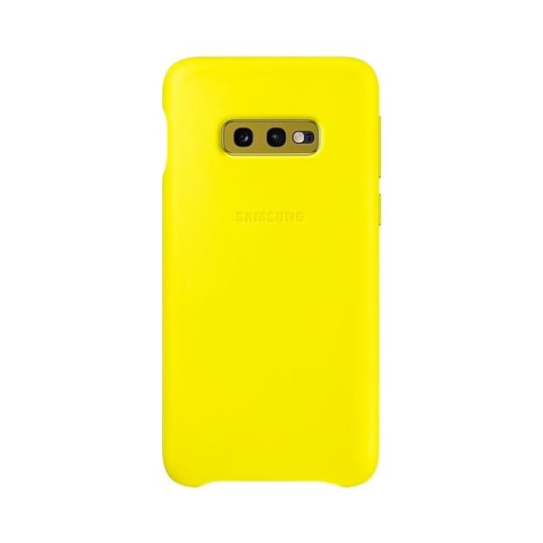 Samsung Galaxy S10e Leather Cover Yellow