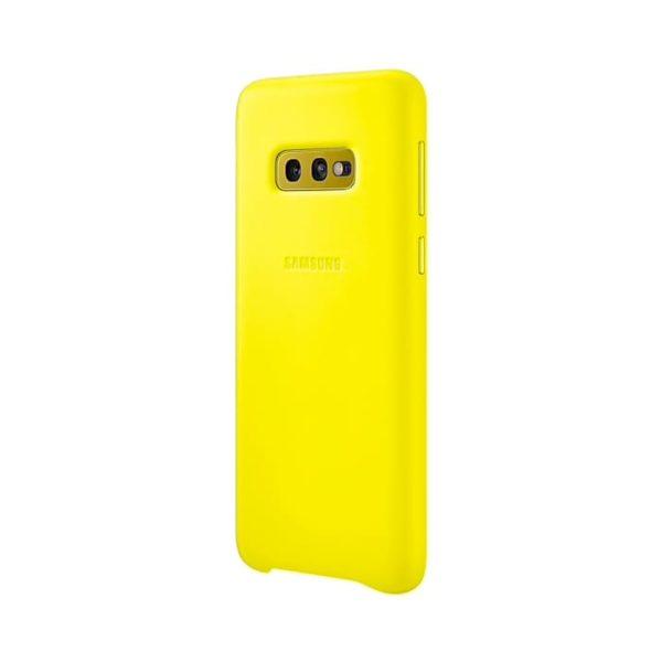 Samsung Galaxy S10e Leather Cover Yellow lato