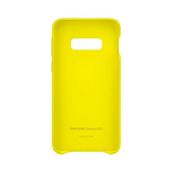 Samsung Galaxy S10e Leather Cover Yellow custodia