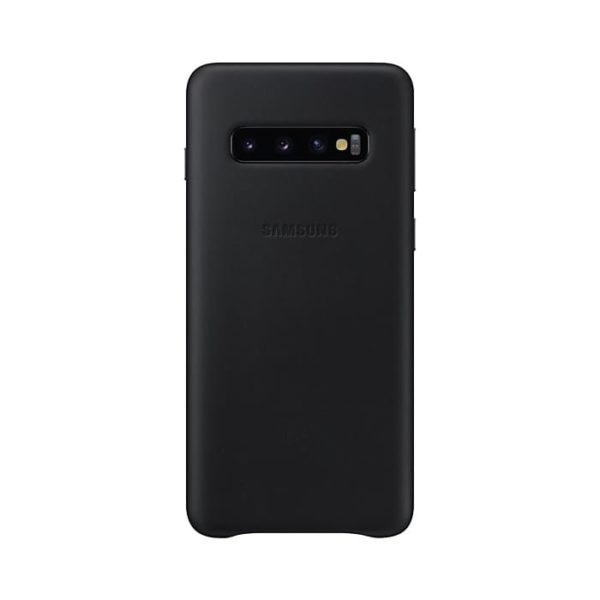 Samsung Galaxy S10 Leather Cover Black