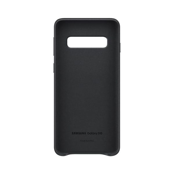 Samsung Galaxy S10 Leather Cover Black custodia