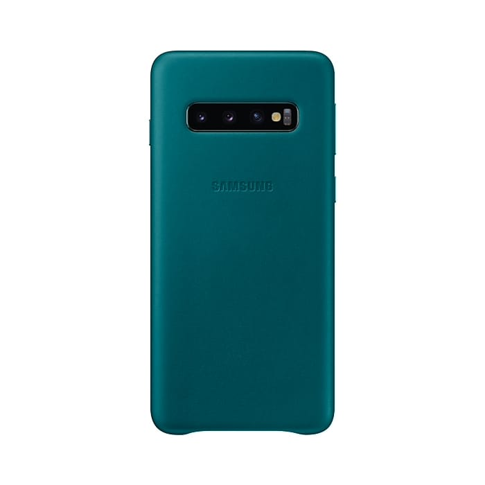 Samsung Galaxy S10 Leather Cover Green
