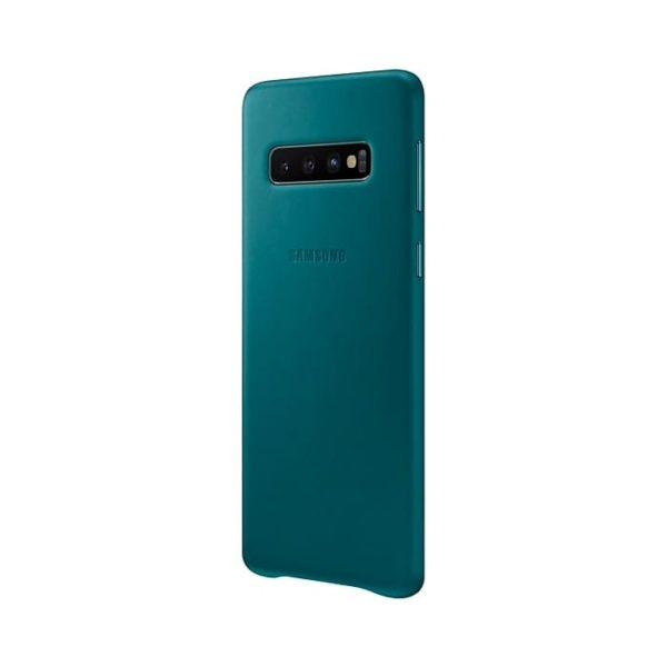 Samsung Galaxy S10 Leather Cover Green lato
