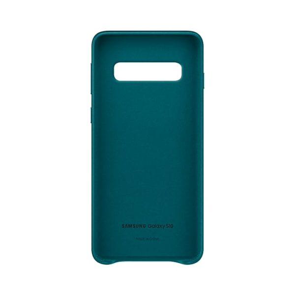 Samsung Galaxy S10 Leather Cover Green custodia