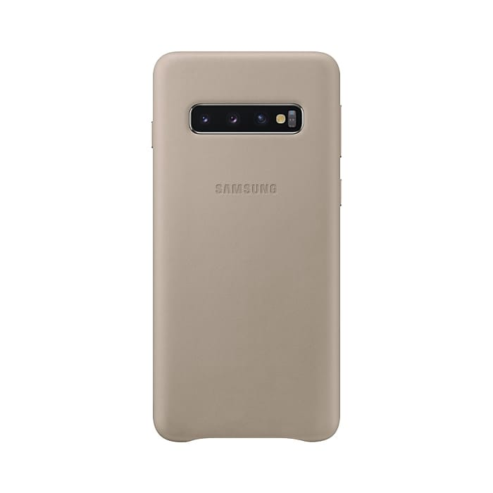 Samsung Galaxy S10 Leather Cover Gray