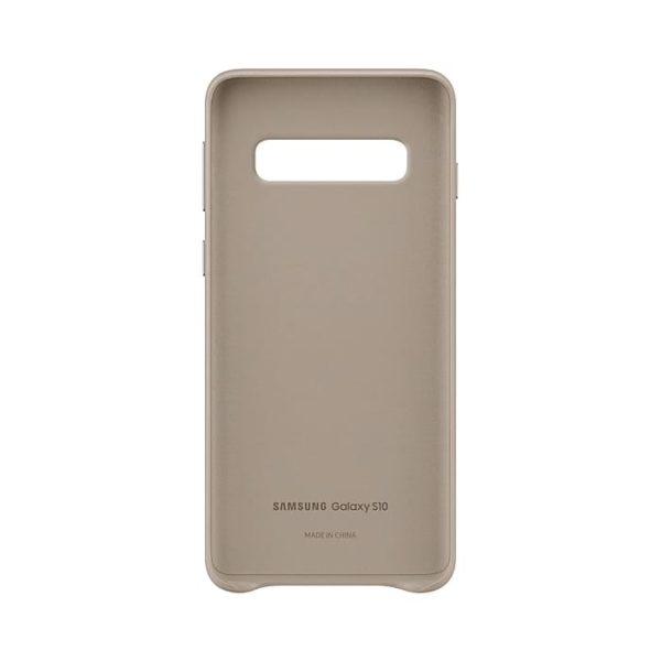 Samsung Galaxy S10 Leather Cover Gray custodia