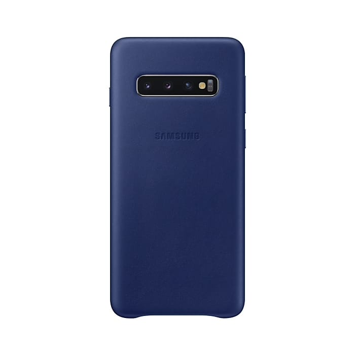 Samsung Galaxy S10 Leather Cover Blue Arctic