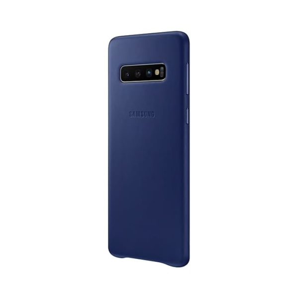 Samsung Galaxy S10 Leather Cover Blue Arctic lato