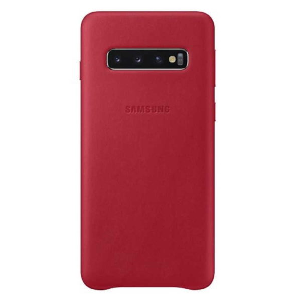 Samsung Galaxy S10 Leather Cover Red