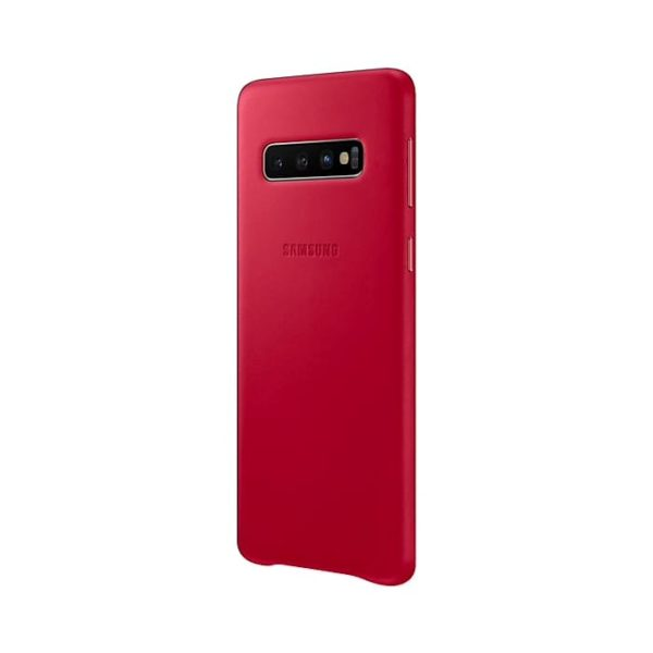 Samsung Galaxy S10 Leather Cover Red lato