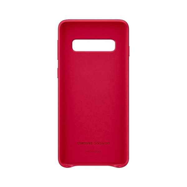 Samsung Galaxy S10 Leather Cover Red Custodia