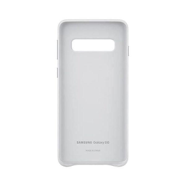 Samsung Galaxy S10 Leather Cover White custodia