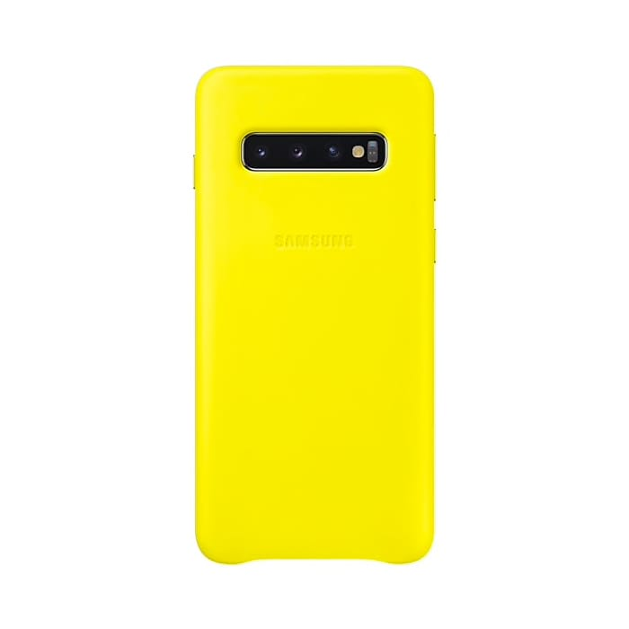 Samsung Galaxy S10 Leather Cover Yellow