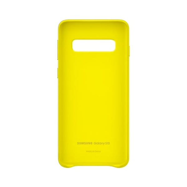 Samsung Galaxy S10 Leather Cover Yellow custodia