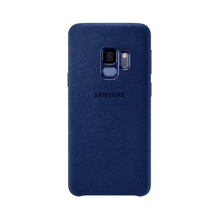 Samsung Galaxy S9 Alcantara Cover Blu