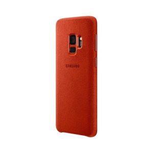 Samsung Galaxy S9 Alcantara Cover Red custodia