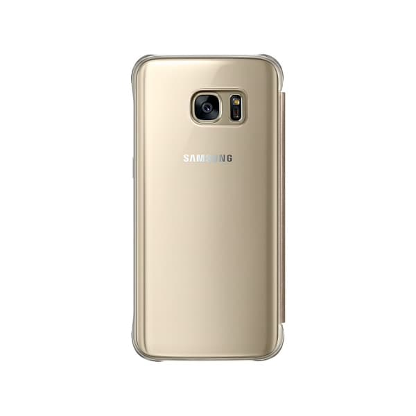 Samsung Galaxy S7 Clear View Cover Gold retro